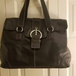 Extra large leather bag